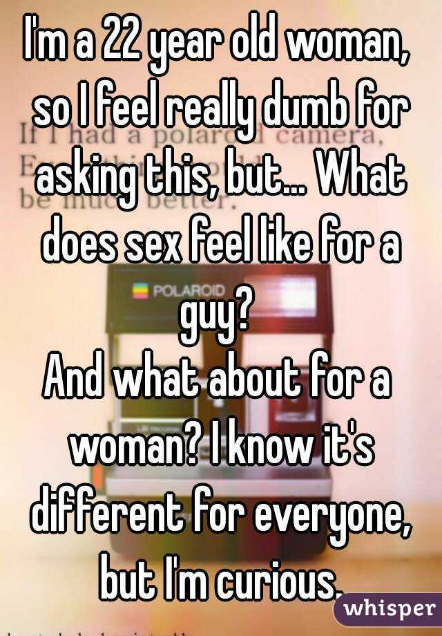 What sex feels like for a woman