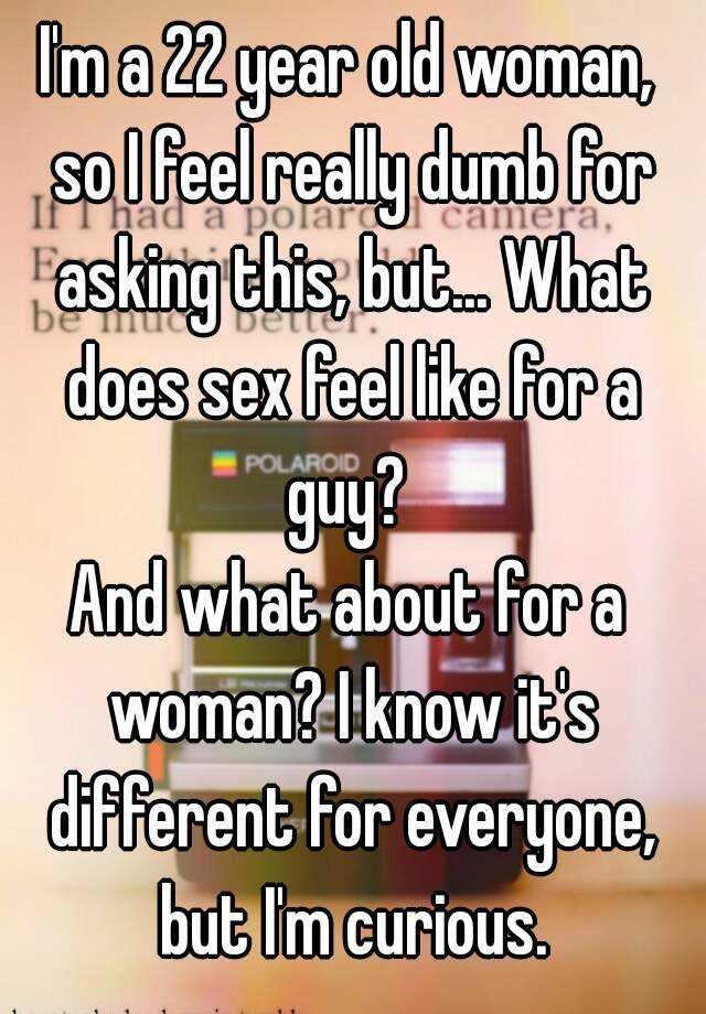 What sex feels like for women