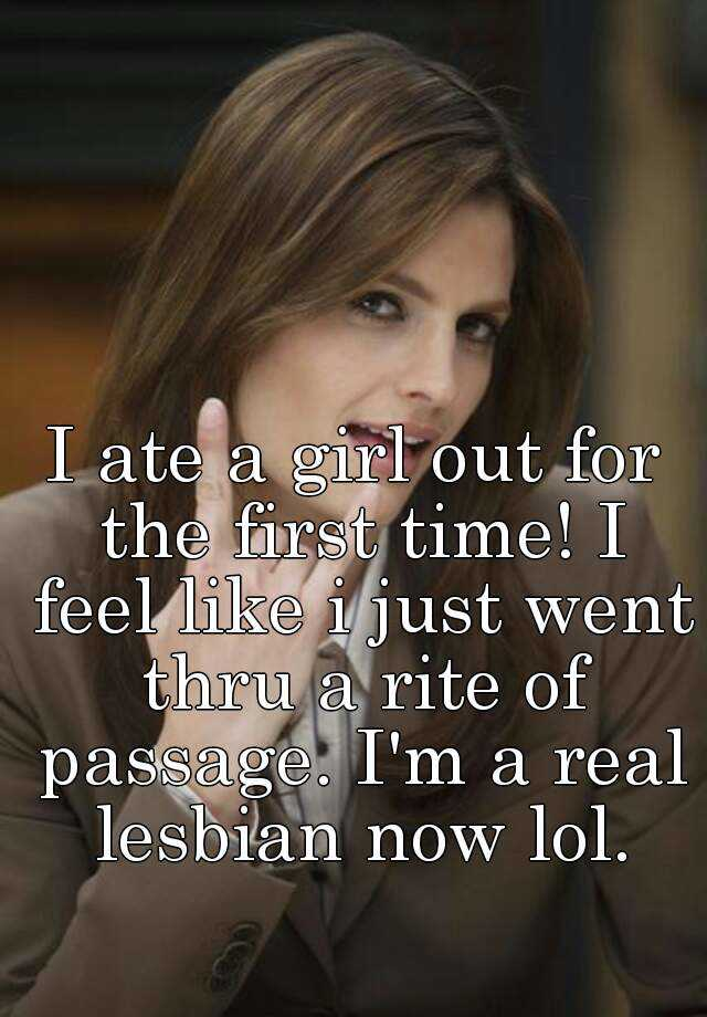 Real first time lesbian
