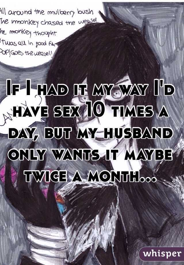 Husband only wants sex once a month