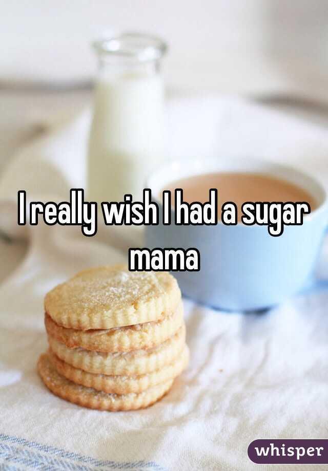 I really wish I had a sugar  mama