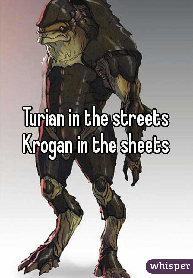 Turian in the streets Krogan in the sheets