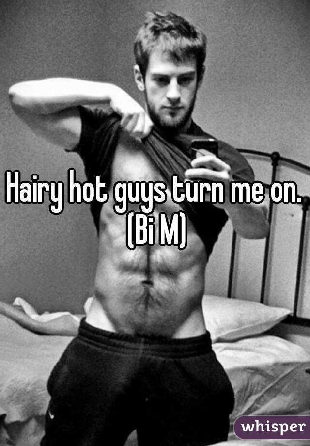 Hairy hot guys turn me on. (Bi M)