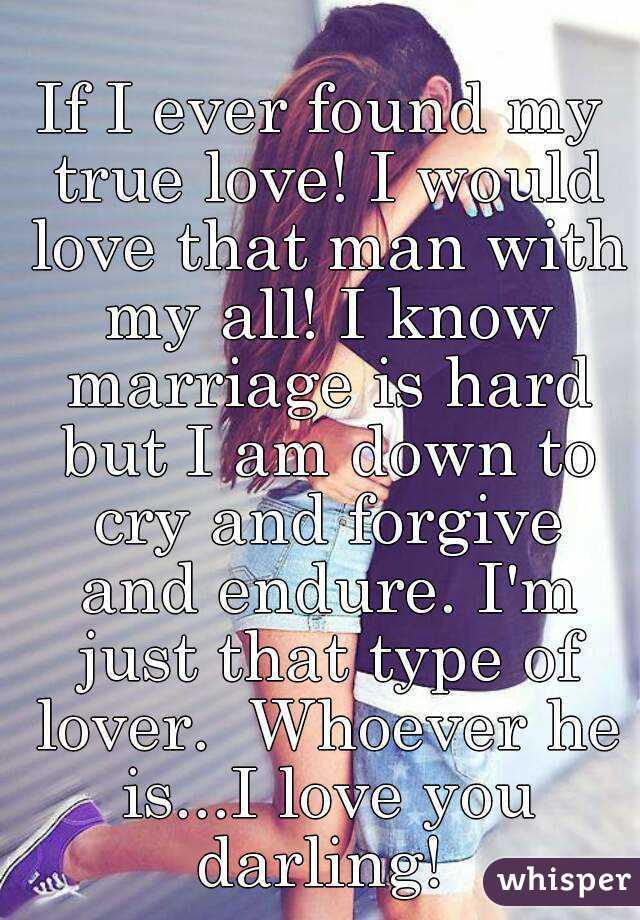 to my true love