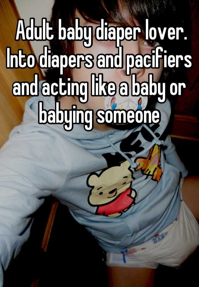 Adult baby diaper lover story