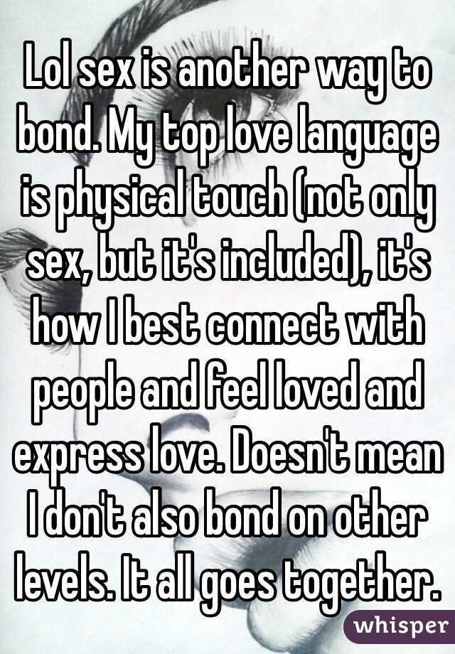 Is Sex The Only Way To Express Love