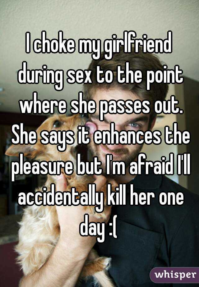 She passed out during sex — 8