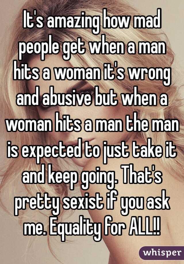 When a woman hits a man