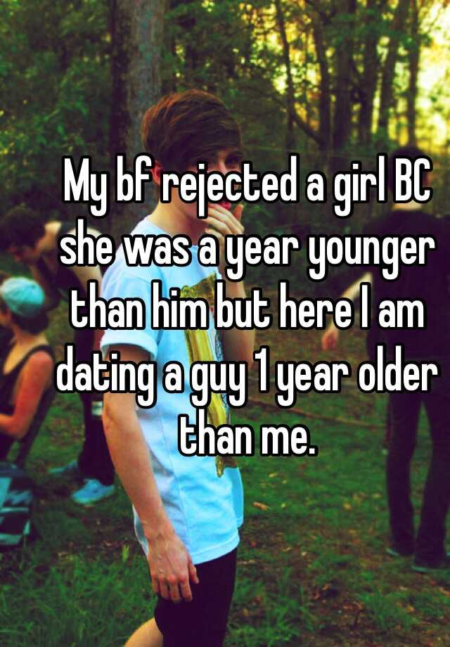 girl dating a guy 1 year younger