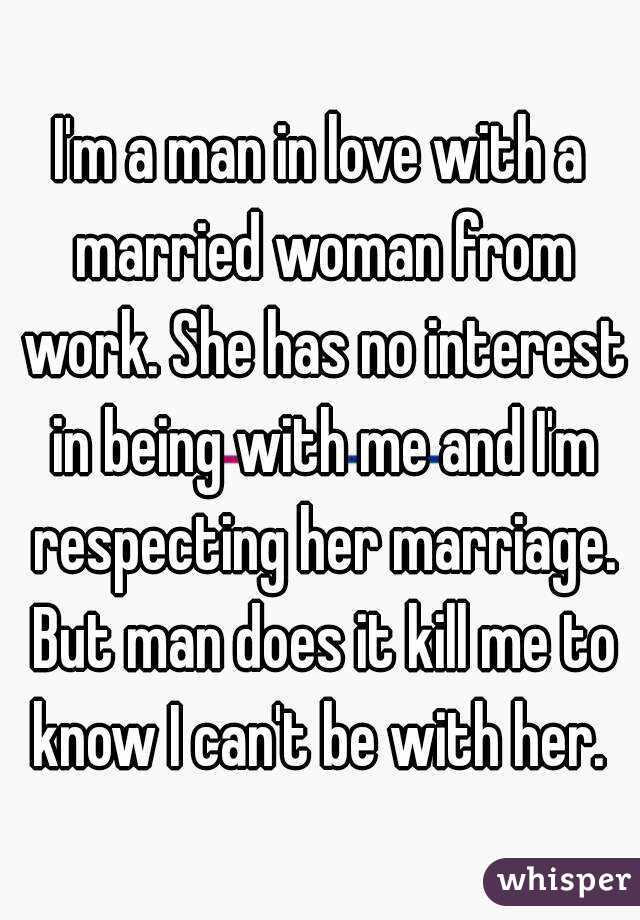 In love with a married woman