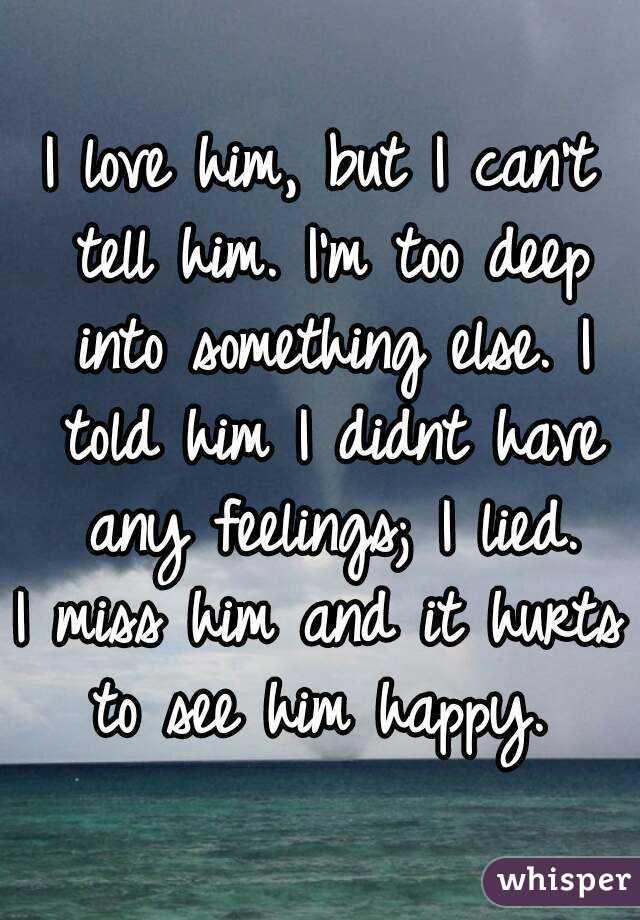 Can I Tell Him I Love Him
