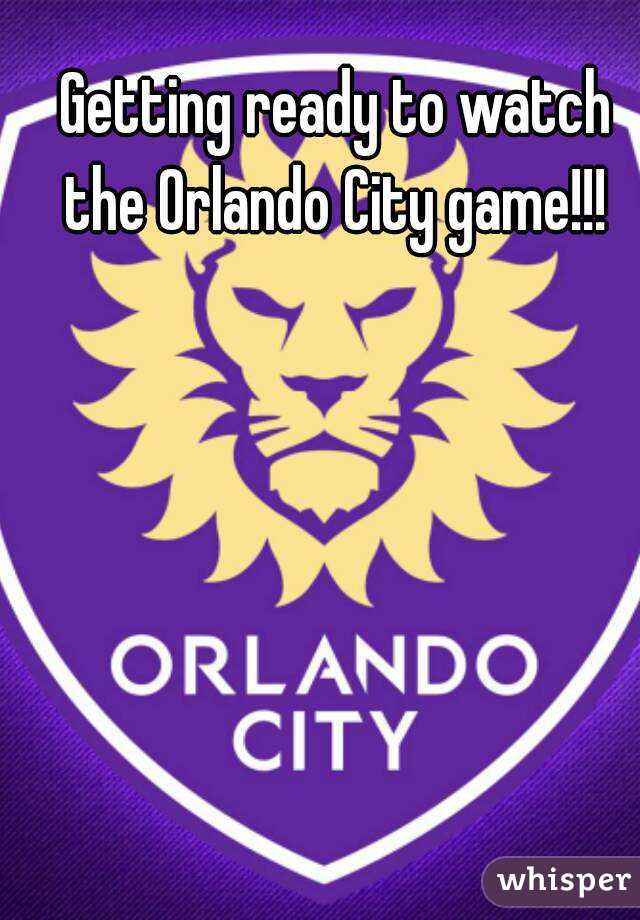 Getting ready to watch the Orlando City game!!!