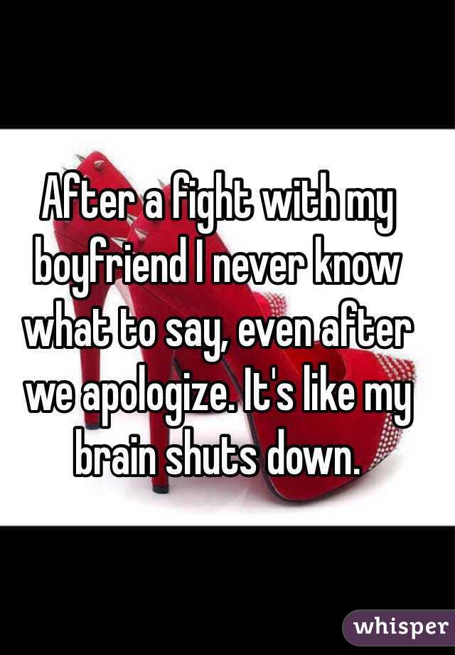 what to say to a boyfriend after an argument