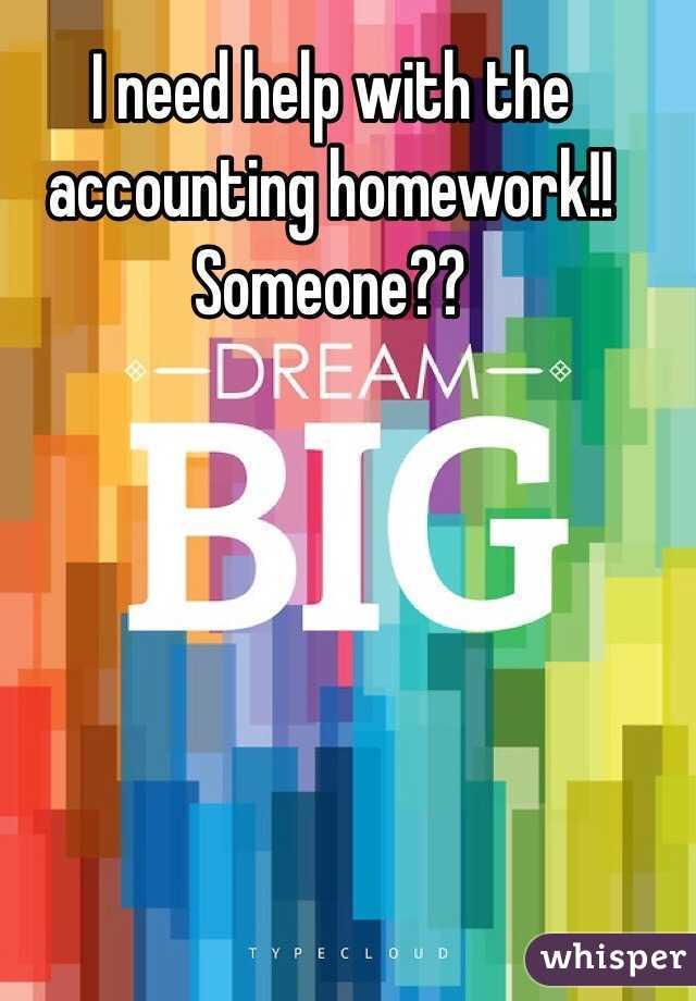 can someone do my accounting homework