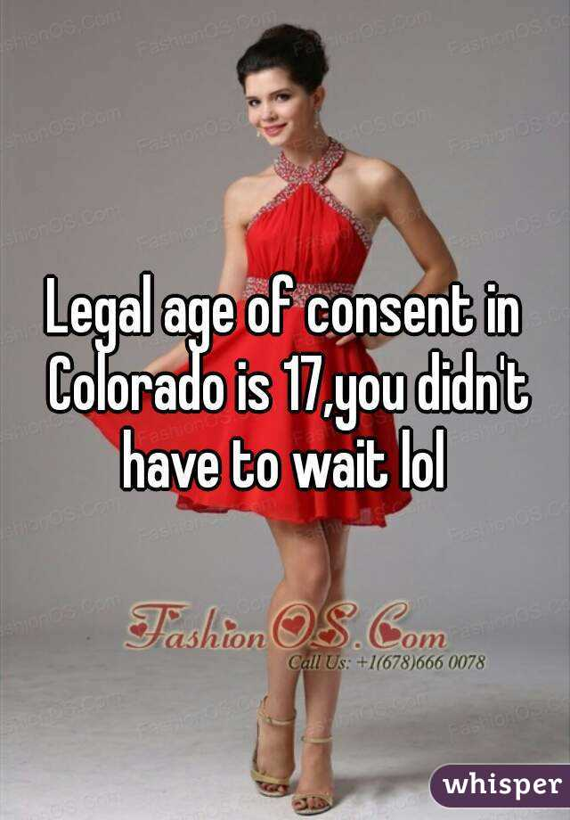 Legal Age Of Dating In Colorado