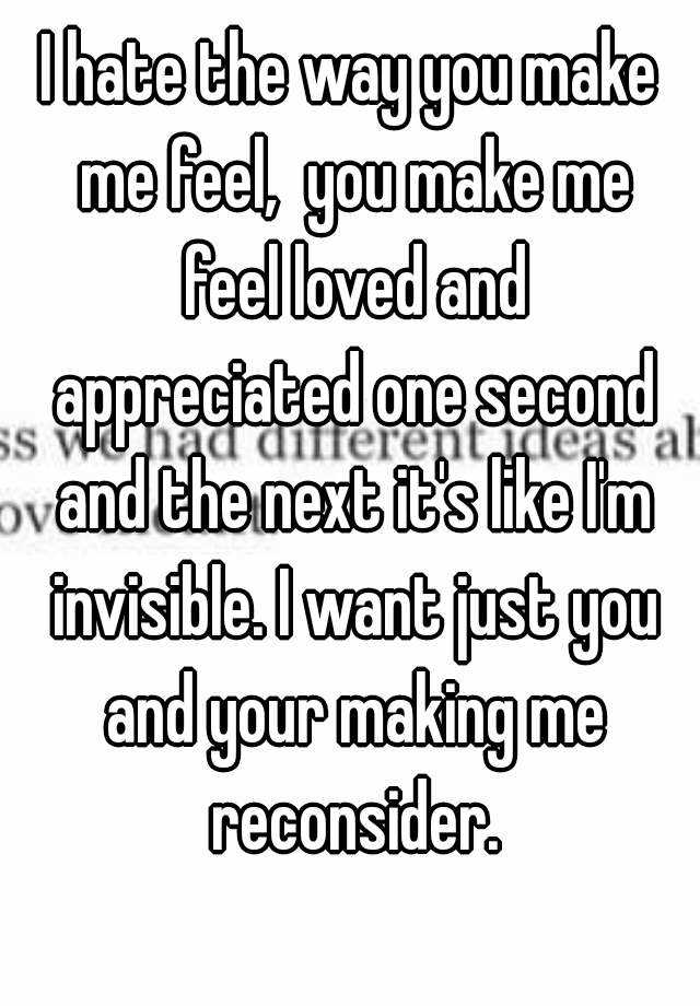 you made me feel loved