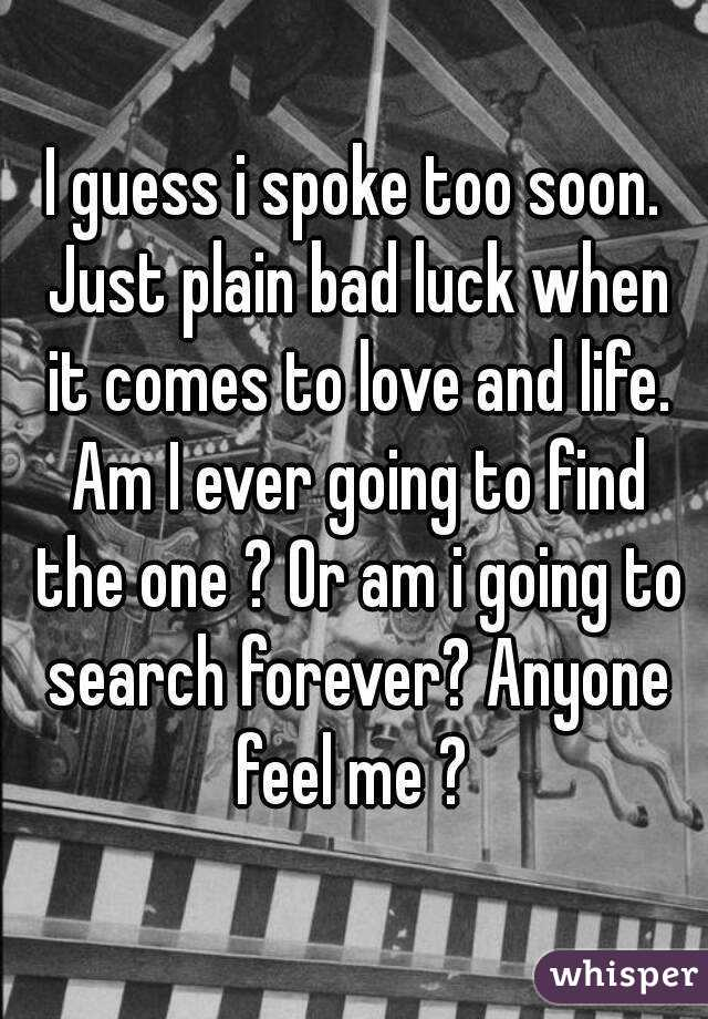 when am i going to find love