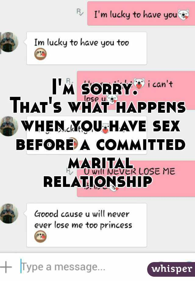 Having sex before being in a relationship