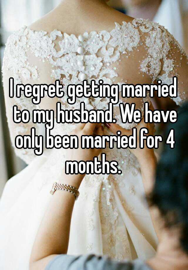 getting married after 4 months