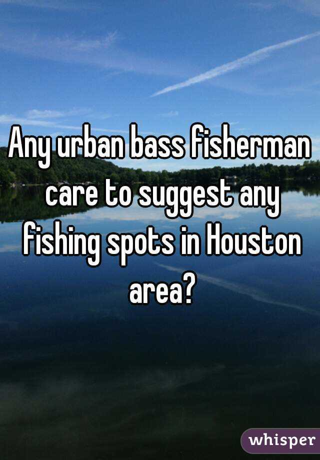 Any urban bass fisherman care to suggest any fishing spots in Houston area?