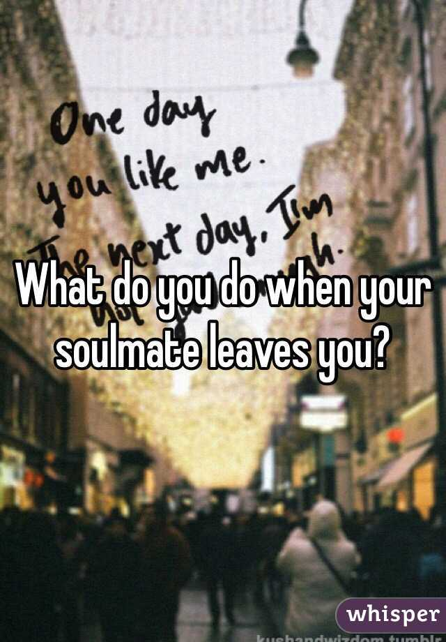 When your soulmate leaves you