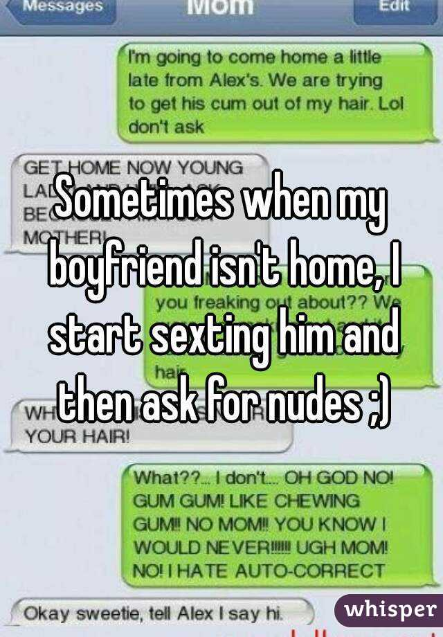 what to say to a guy during sexting