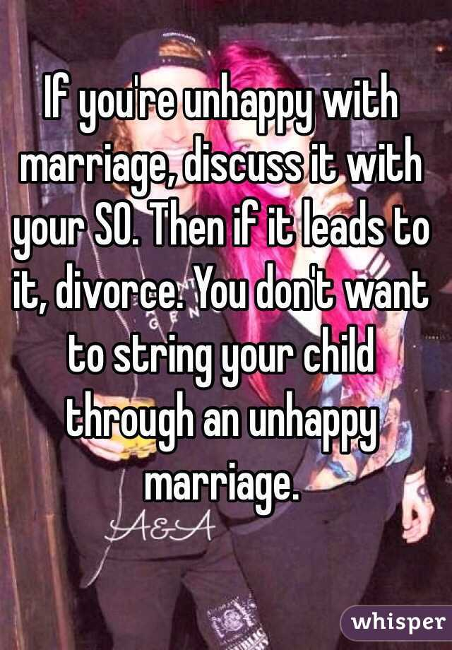 so unhappy in marriage
