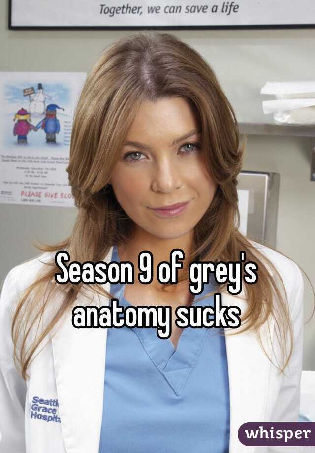 Season 9 of grey\'s anatomy sucks