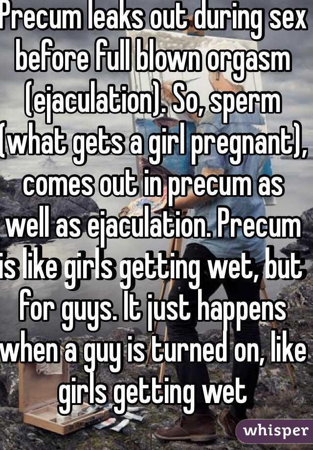 Full blown orgasm