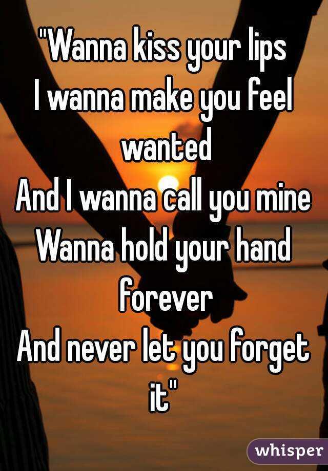 Lyrics I Want To Make You Feel Wanted