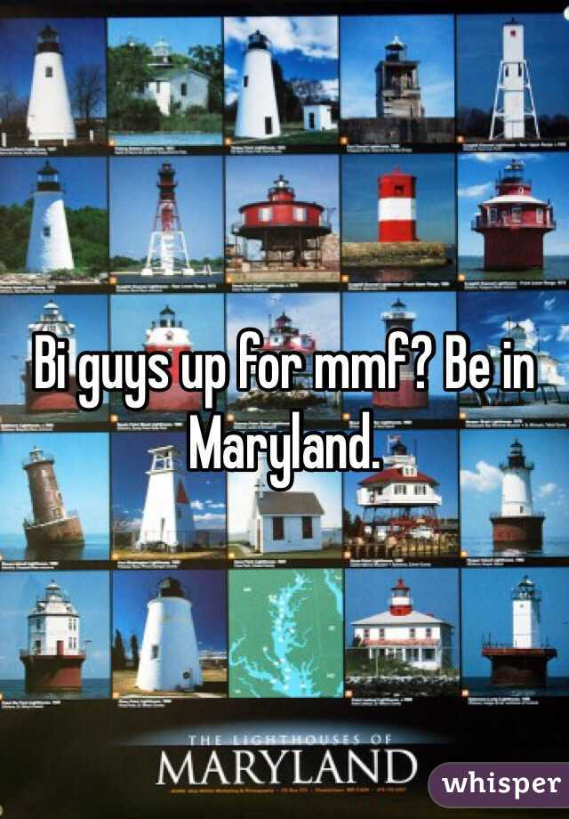 Bi guys up for mmf? Be in Maryland.