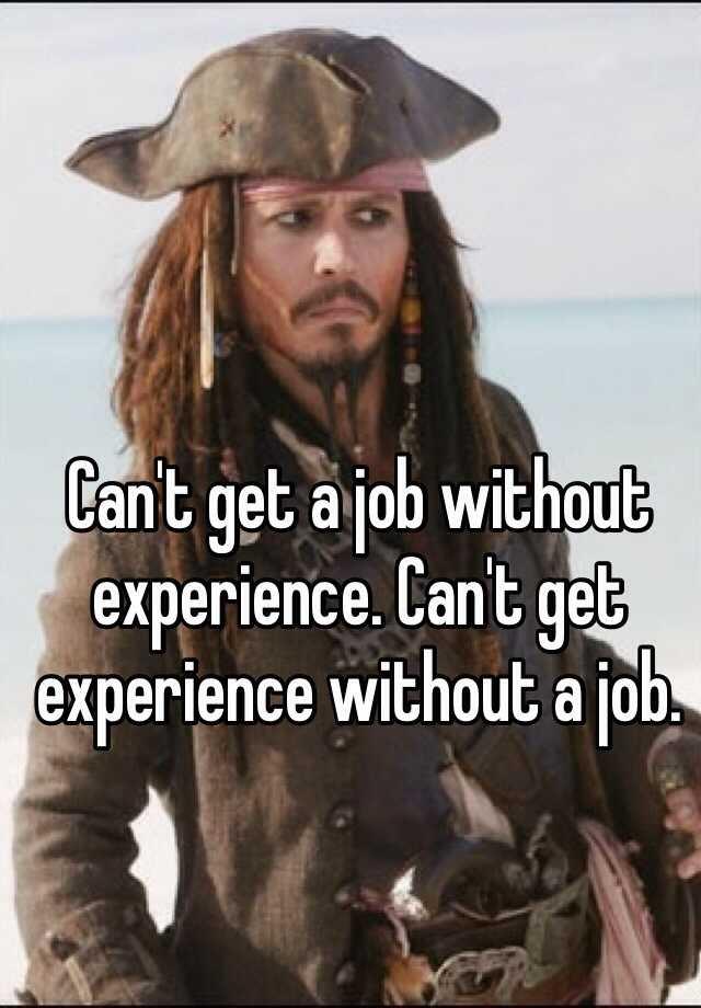 cant get a job