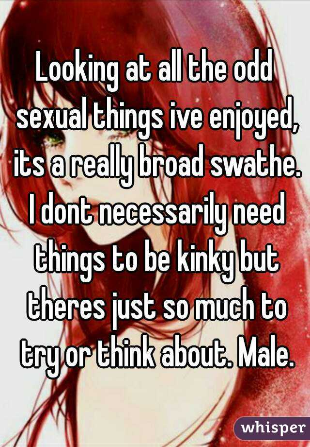 Sexual things you can do by yourself