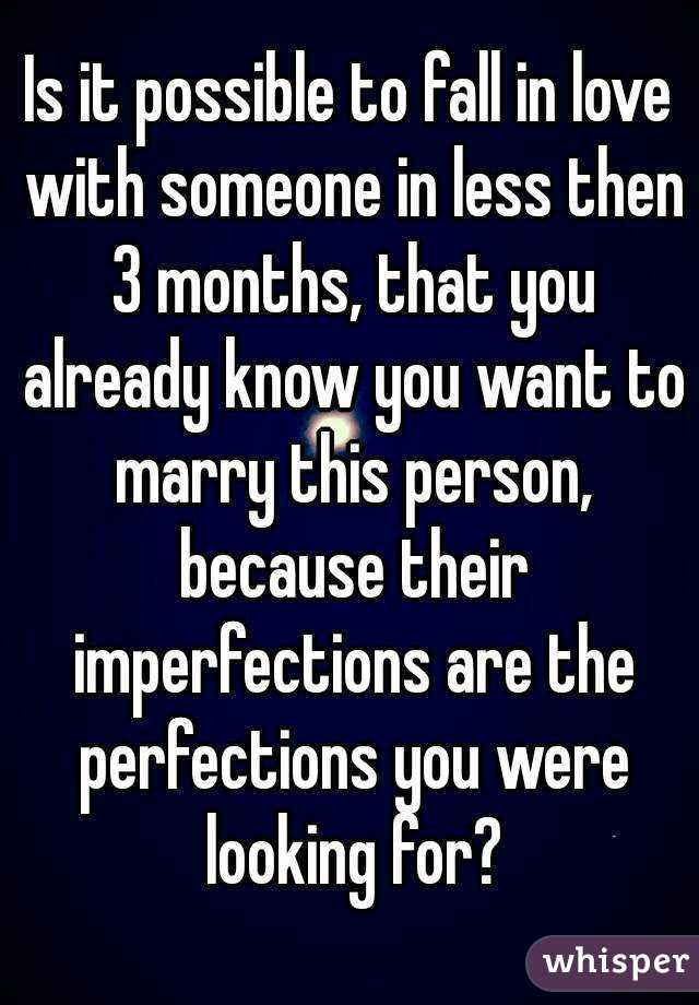 When do you know you want to marry someone