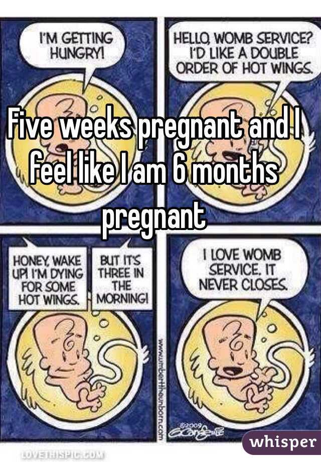 Five weeks pregnant and I feel like I am 6 months pregnant