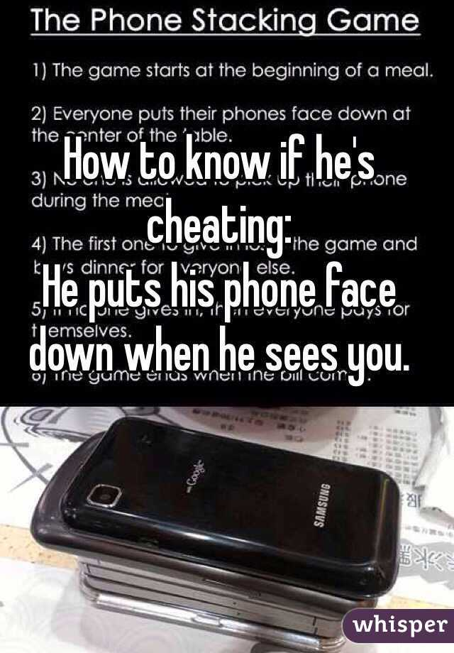 how can you tell if hes cheating