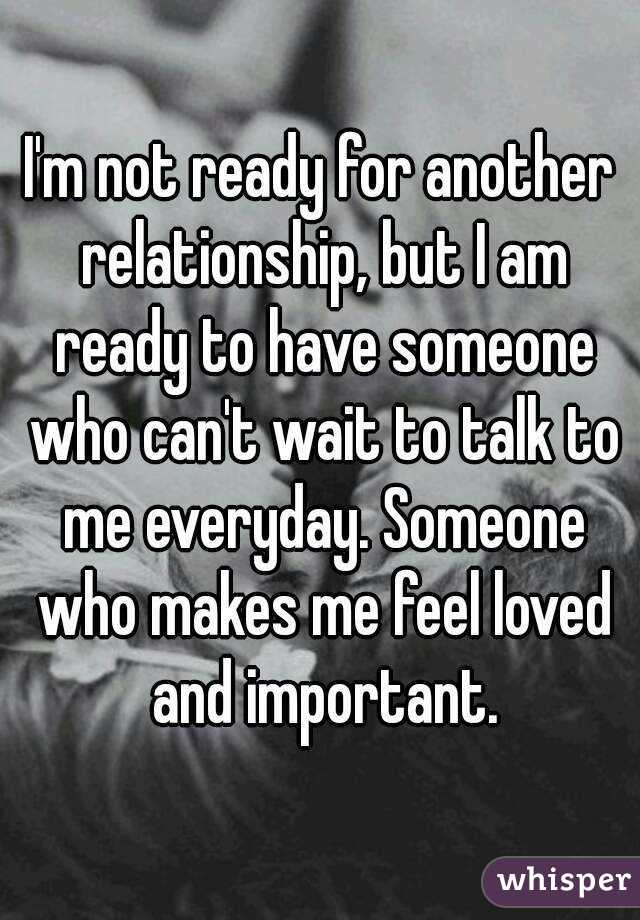 in love but not ready for a relationship