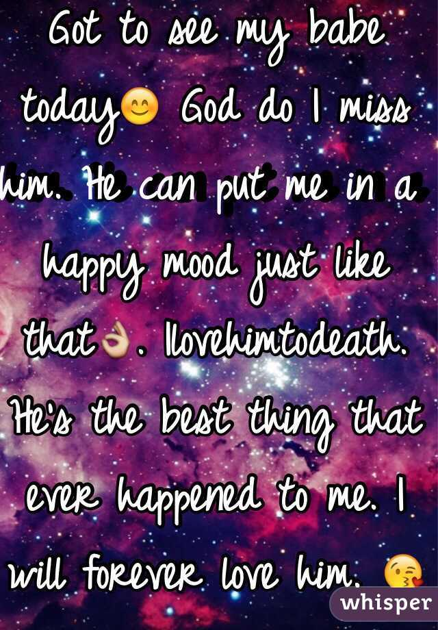 Got to see my babe today😊 God do I miss him. He can put me in a happy mood just like that👌. Ilovehimtodeath. He's the best thing that ever happened to me. I will forever love him. 😘