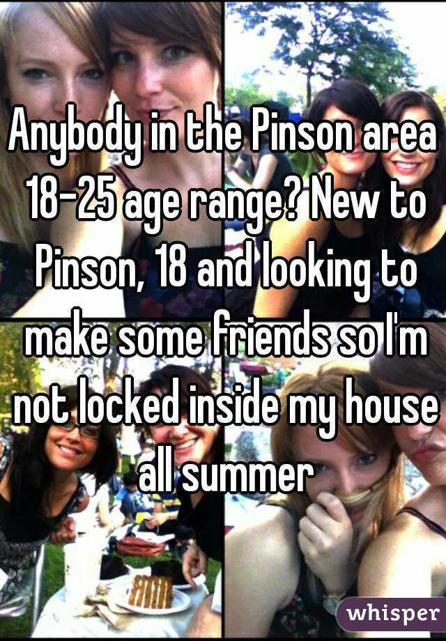 Anybody in the Pinson area 18-25 age range? New to Pinson, 18 and looking to make some friends so I'm not locked inside my house all summer