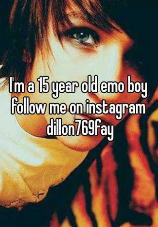 15 year old emo boy