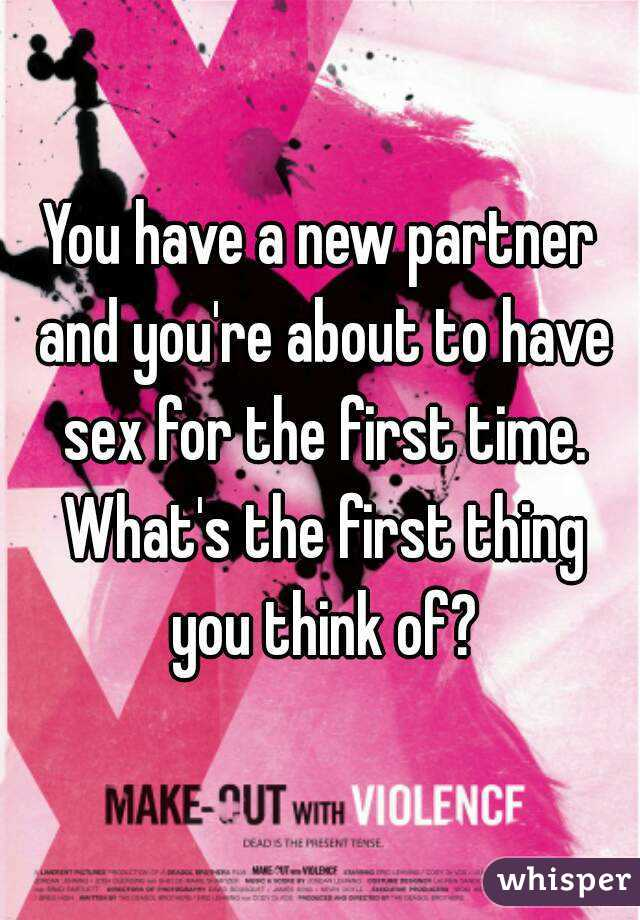 first time sex with new partner