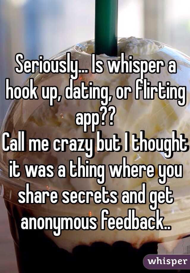 Is whisper a hookup app