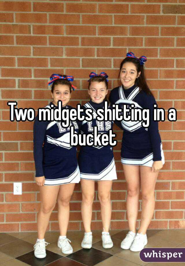 Two midgets shitting in a bucket