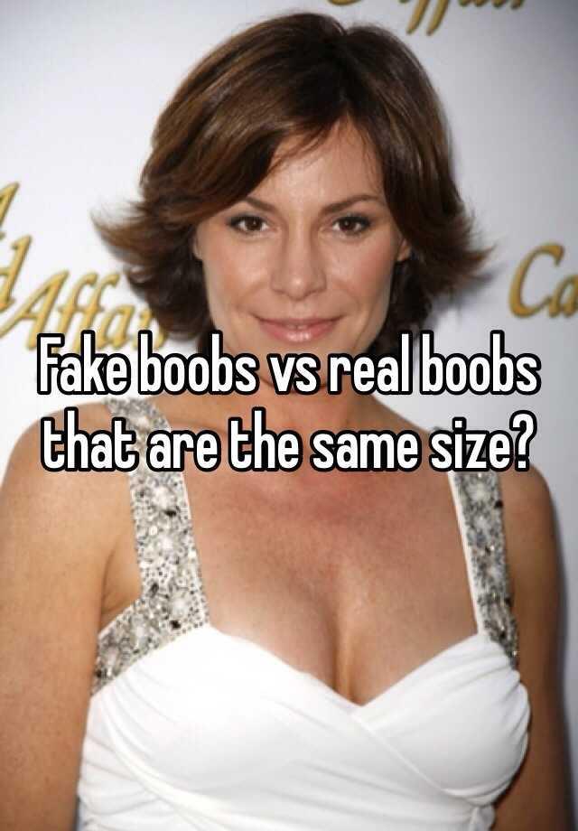Real vs fake boobs