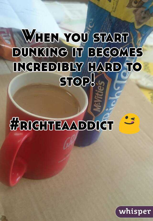 When you start dunking it becomes incredibly hard to stop!   #richteaaddict 😋