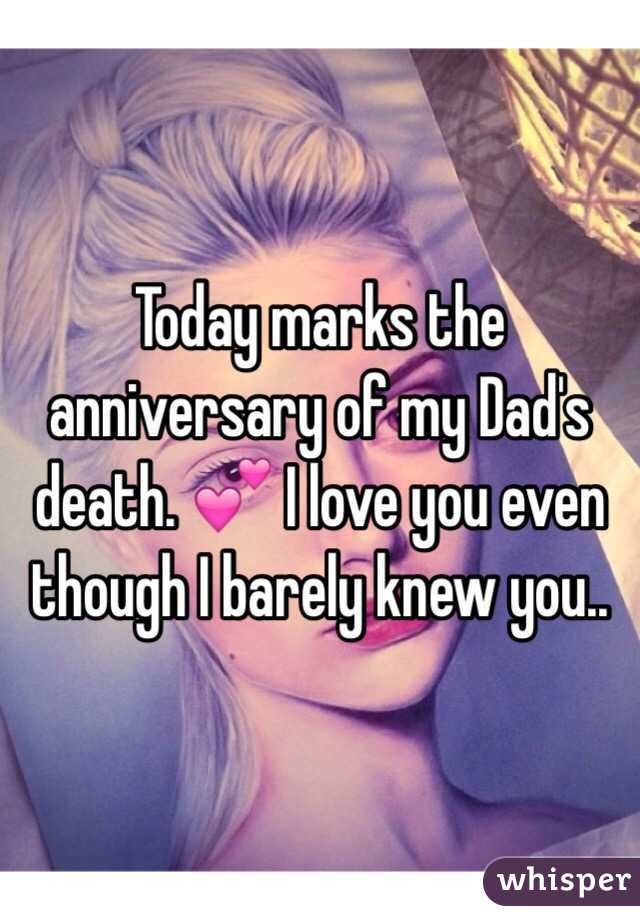 Today marks the anniversary of my Dad's death. 💕 I love you even though I barely knew you..