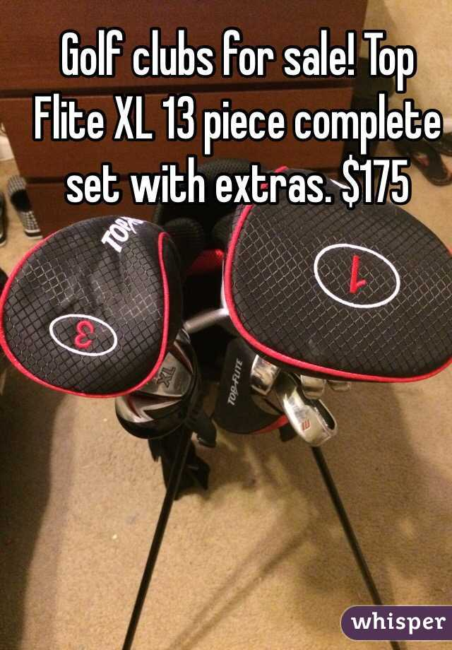 Golf clubs for sale! Top Flite XL 13 piece complete set with extras. $175