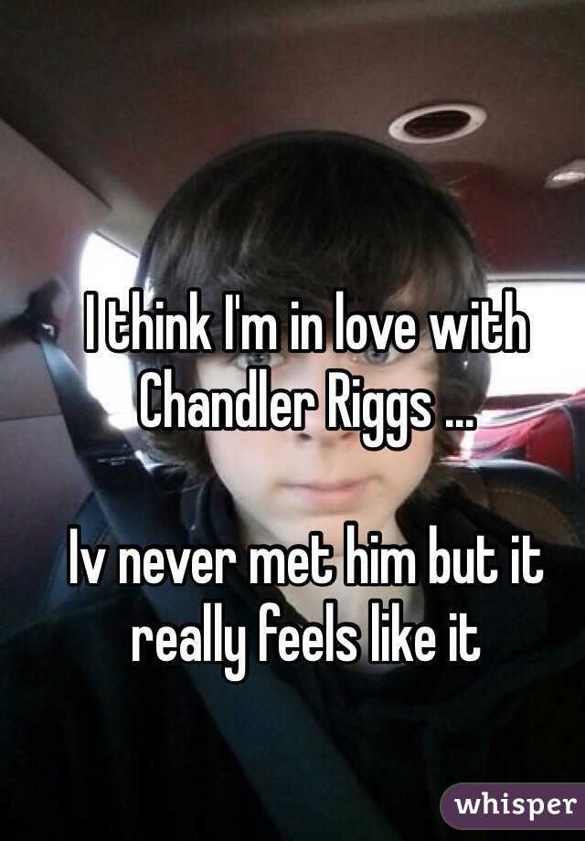 I think I'm in love with Chandler Riggs ...  Iv never met him but it really feels like it