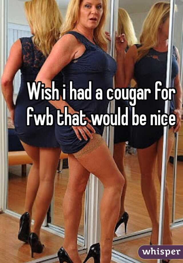 Wish i had a cougar for fwb that would be nice