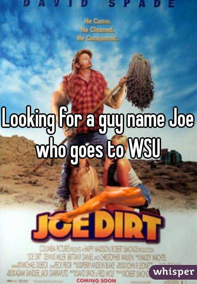 Looking for a guy name Joe who goes to WSU